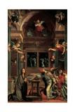Annunciation, Bernardino Luini, 16th c. Brera Gallery, Milan, Italy Posters by Bernardino Luini