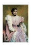 Portrait of a Lady, Giuseppe De Nittis, 1878. Italy Prints by Giuseppe De Nittis