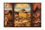 Hieronymus Bosch - Tryptych of Hay, (Full open view) Plakát