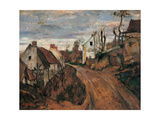 Village Street in Auvers Prints by Paul Cézanne