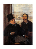Degas and Evariste de Valernes, Painter and Friend of the Artist Prints by Edgar Degas