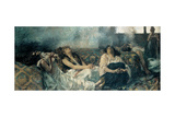 Hashish (The Hashish Smokers) Print by Gaetano Previati