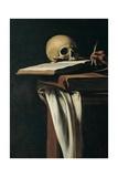 Caravaggio - St. Jerome (Detail of skull) Plakát