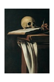 St. Jerome (Detail of skull) Posters by  Caravaggio