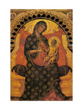 Madonna with Child Enthroned Kunst af Paolo Veneziano