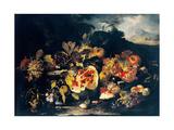 Still Life with a Landscape Giclee Print by Franz Werner von Tamm