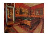 La salle de billard Affiches par Edgar Degas