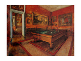 Salón de billar Lámina por Edgar Degas