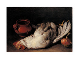 Still Life with hen, onion and pot Prints by Pitocchetto Ceruti