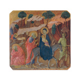 Military Parade at Campo di Marte, Flight into Egypt Giclee Print by Duccio Di buoninsegna