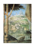 Meeting (landscape) Poster by Andrea Mantegna