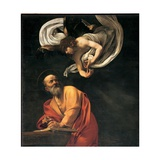 St. Matthew and the Angel Posters af Caravaggio