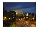 Flavian Amphitheatre or Coliseum at Night, 79-80 A.D. Rome, Italy Giclee Print