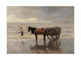 Cart on the Beach Prints