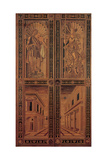 Inlaid wood door with Apollo, Pallas and views using perspective. 1474, Florence, Italy Posters by  Florentince In layers