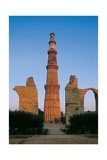 Minaret of Qubt, Quwwat-ul-Islam Mosque, c. 1199-1368. Delhi, India. Poster