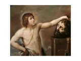 David Contemplating the Head of Goliath Giclee Print by Guido Reni
