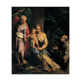 Rest on the Flight into Egypt Art by  Correggio