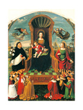 Madonna of the Rosary Altarpiece Posters by Ludovico Brea
