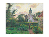 Church of Knocke Arte por Camille Pissarro