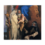 Virgin Appearing to the Dominican St. Rose of Lima Giclee Print by Tiepolo Giambattista