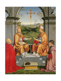 Sts. Thomas Becket & St. Martin, Bishop Arrivabene and Duke Guidubaldo, by Timoteo Viti, c. 1504. Giclée-Druck von Timoteo Viti