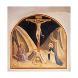 Crucifixion with the Virgin Mary and St. Dominic Poster by  Beato Angelico