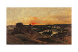 Chateau Gaillard, les Andelys, Charles-Frans Daubigny, 1878. Musee d'Orsay, Paris, France Prints by Charles-Fran?s Daubigny Daubigny