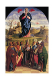 Virgin in Glory with Eight Saints Poster by Giovanni Bellini