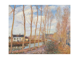 Loings Canal Giclee Print by Alfred Sisley