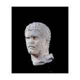 Portrait of Caracalla, 2nd c. A.D. Ancient Roman statue. Ancient Roman painting. Palazzo Massimo Posters