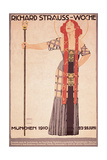 Art Nouveau Poster for Richard Strauss Woche Munchen Prints by Ludwig Hohlwein