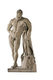 Farnese Hercules, Roman copy from Lisippos, The Farnese Hercules. 2nd c. A.D. Naples, Italy Posters by  Lisippos
