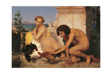 Young Greeks Art by Jean-Auguste-Dominique Ingres