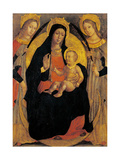 Madonna and Child, Sts. Apollonia and Lucy Posters by Luca Baudo