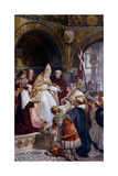 Pope Benedict XI Approves the Plans of San Nicola Church Art by Ludovico Seitz
