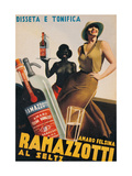 Advertising poster for Amaro Felsina Ramazzotti Water Prints by Gino Boccasile