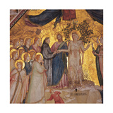 Mystical Marriage of St. Francis to Poverty Print by  Giotto di Bondone