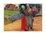 Breton Peasant Women Prints by Paul Gauguin