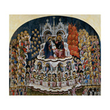 Coronation of the Virgin, Jacobello del Fiore, c. 1400-1439. Accademia, Venice, Italy Prints by Alberegno Jacobello
