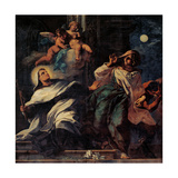 Temptation of St. Albert the Carmelite Prints by Santo Piatti