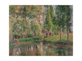 Wash House at Bazincourt Giclee Print by Camille Pissarro