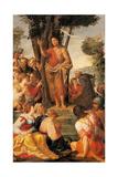 Preaching of St. John the Baptist Art by  Ricciutello