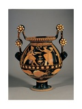 Red-Figured Apulian Nestoris (wine jar), 4th c. B.C. National Archaeological Museum,Naples, Italy Poster