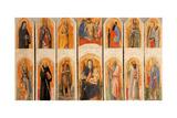 Nativity Polyptych by Antonio Vivarini, c.1447-1448. Brera Gallery, Milan, Italy Kunstdrucke von Antonio Vivarini