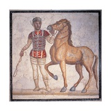 Auriga of the Circus, 3rd c. A.D. Ancient Roman mosaic. Palazzo Massimo, Rome, Italy Posters