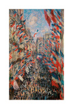 Rue Montorgueil, Paris, Festival of June 30, 1878 Posters by Claude Monet