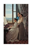 Folk Song Affiches par Silvestro Lega