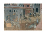 Effects of Good Government in the City Prints by Ambrogio Lorenzetti