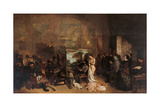 Gustave Courbet - Artist's Studio - Reprodüksiyon